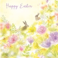 Saffron Cards And Gifts Easter Bunnies Greeting Card