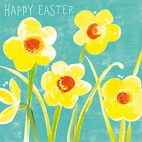 Paper Salad Easter Daffodils Greeting Card
