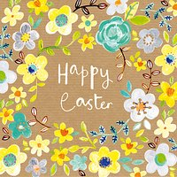 Paper Salad Easter Flowers Greeting Card