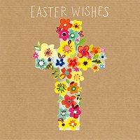 Paper Salad Easter Cross Greeting Card