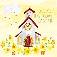 Paper Salad Easter Church Greeting Card