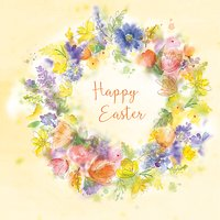 Saffron Cards And Gifts Easter Wreath Greeting Card