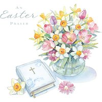 Ling Flowers Easter Greeting Card
