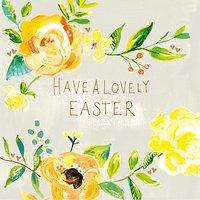 Paper Salad Easter Roses Greeting Card