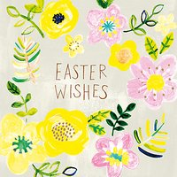 Paper Salad Easter Wishes Greeting Card