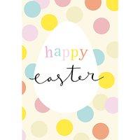 Caroline Gardner Happy Easter Dots Greeting Card