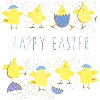 Portfolio Happy Easter Chicks Greeting Card