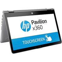 "HP Pavilion X360 14-ba100na Convertible Laptop, Intel Core i5, 8GB RAM, 128GB SSD, 14"" Full HD Touch Screen, Silver"