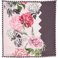 Ted Baker Zaynei Palace Gardens Square Silk Scarf, Taupe/Pink