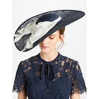 Bundle MacLaren Millinery Annie Large Disc Occasion Hat, Navy/Ivory