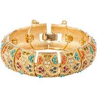 Susan Caplan Vintage DOrlan 22ct Gold Plated Swarovski Crystal Statement Bracelet, Gold/Multi