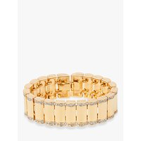 Susan Caplan Vintage Vintage Swarovski 22ct Gold Plated Crystal Bracelet, Gold