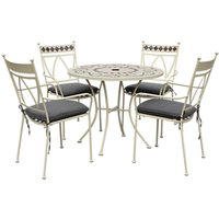 LG Outdoor Marrakech 4 Seater Garden Table and Chairs Set, Cream