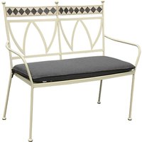 LG Outdoor Marrakech 2 Seater Outdoor Bench, Cream