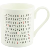 McLaggan Smith Valentines I Love You Alphabet Mug, White/Multi, 250ml
