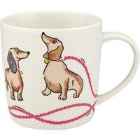 Cath Kidston Mono Dog Print Audrey Mug, Multi, 350ml