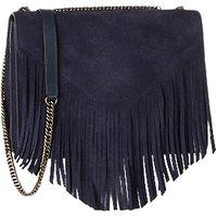Gerard Darel Lucky Leather Shoulder Bag, Blue