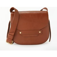 Modern Rarity Ribbon Leather Saddle Bag, Tan