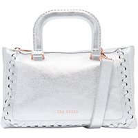 Ted Baker Tia Leather Tote Bag, Silver