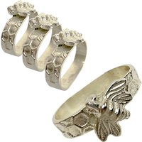 Culinary Concepts Bee Napkin Rings, Pack of 4