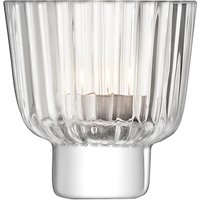 LSA International Pleat Tealight Holder, Clear