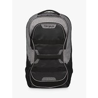 "Targus Work + Play Fitness Backpack for Laptops up to 15.6"", Black/Grey at John Lewis Department Store"