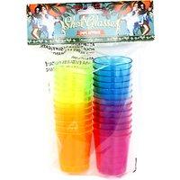 Bright Coloured Plastic Shot Glasses, Pack of 24