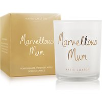 Katie Loxton 'Marvellous Mum' Pomegranate and Sweet Apple Scented Candle
