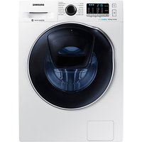 Samsung AddWash WD80K5B10OW/EU Freestanding Washer Dryer, 8kg Wash/6kg Dry Load, B Energy Rating, 1400rpm Spin, White