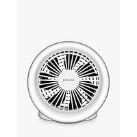 John Lewis & Partners Spectrum USB Desk Fan, 5 Inch, White