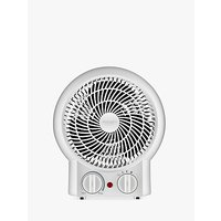 John Lewis & Partners Hot and Cool Mini Fan and Heater, White