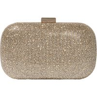 Karen Millen Glitter Clutch, Gold at John Lewis Department Store