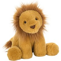 Jellycat Smudge Lion Soft Toy, One Size, Yellow