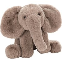Jellycat Smudge Elephant Soft Toy, One Size, Brown