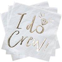 Ginger Ray I Do Crew Paper Napkins, Pack of 16
