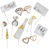 Ginger Ray I Do Photo Booth Props, Set of 10