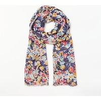 Collection WEEKEND by John Lewis Vintage Floral Scarf, Blue Mix