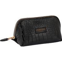 Otis Batterbee Downshire Small Makeup Bag, Black Croc