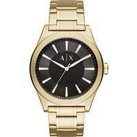 Armani Exchange AX2328 Men's Bracelet Strap Watch, Gold/Black