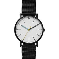 Skagen SKW6376 Men's Signatur Bracelet Strap Watch, Black