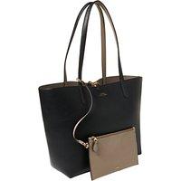 Lauren Ralph Lauren Reversible Tote Bag, Black/Taupe