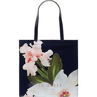 Ted Baker Hermcon Chatsworth Bloom Large Icon Shopper Bag, Navy