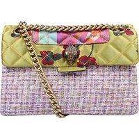 Kurt Geiger Kensington Fabric Cross Body Bag, Pink Combo