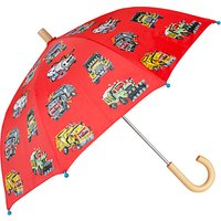 Hatley Children's Monster Truck Print Umbrella, Red