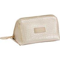 Otis Batterbee Downshire Small Makeup Bag, Gold Croc