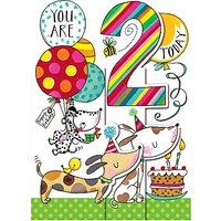 Rachel Ellen Dogs Whipper Snapper 2nd Birthday Card