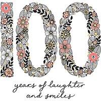 Rachel Ellen Azalea Flower 100th Birthday Card