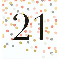 Caroline Gardner 21st Birthday Card