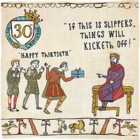 Woodmansterne Slippers 30th Birthday Card