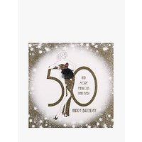 Five Dollar Shake 50 and You Dont Look A Day Over Fabulous Birthday Card